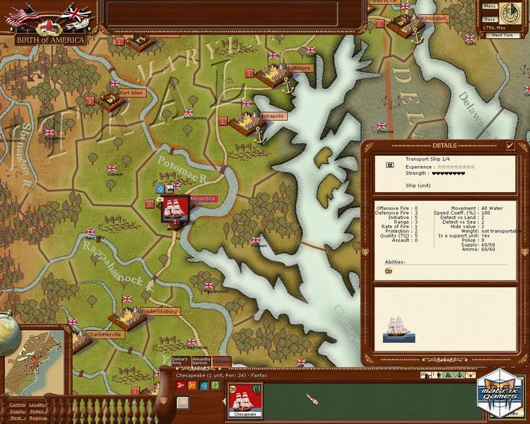 birth of america Birth of america is a turn-based strategy computer game by sep boa, a development team at ageod in birth of america, the player controls one of the major contender of the french and indian war or the american war of independence, trying to achieve military and political victory.
