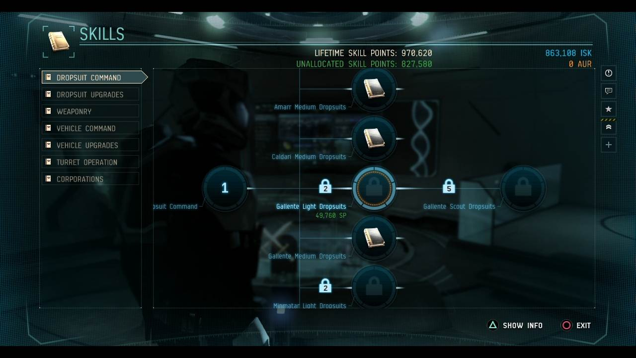 Dust 514 Skilltree Screenshot