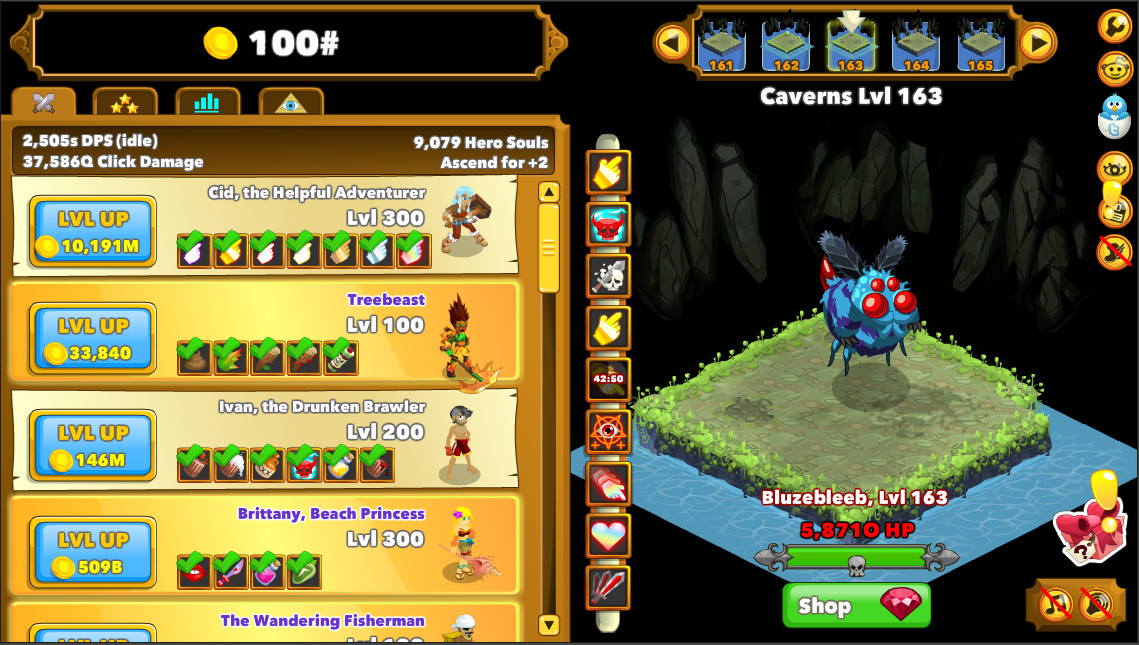 how to get high level on clicker heroes