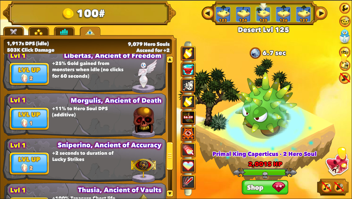 Clicker heroes herstellerbilder screenshot galerie gamersglobal