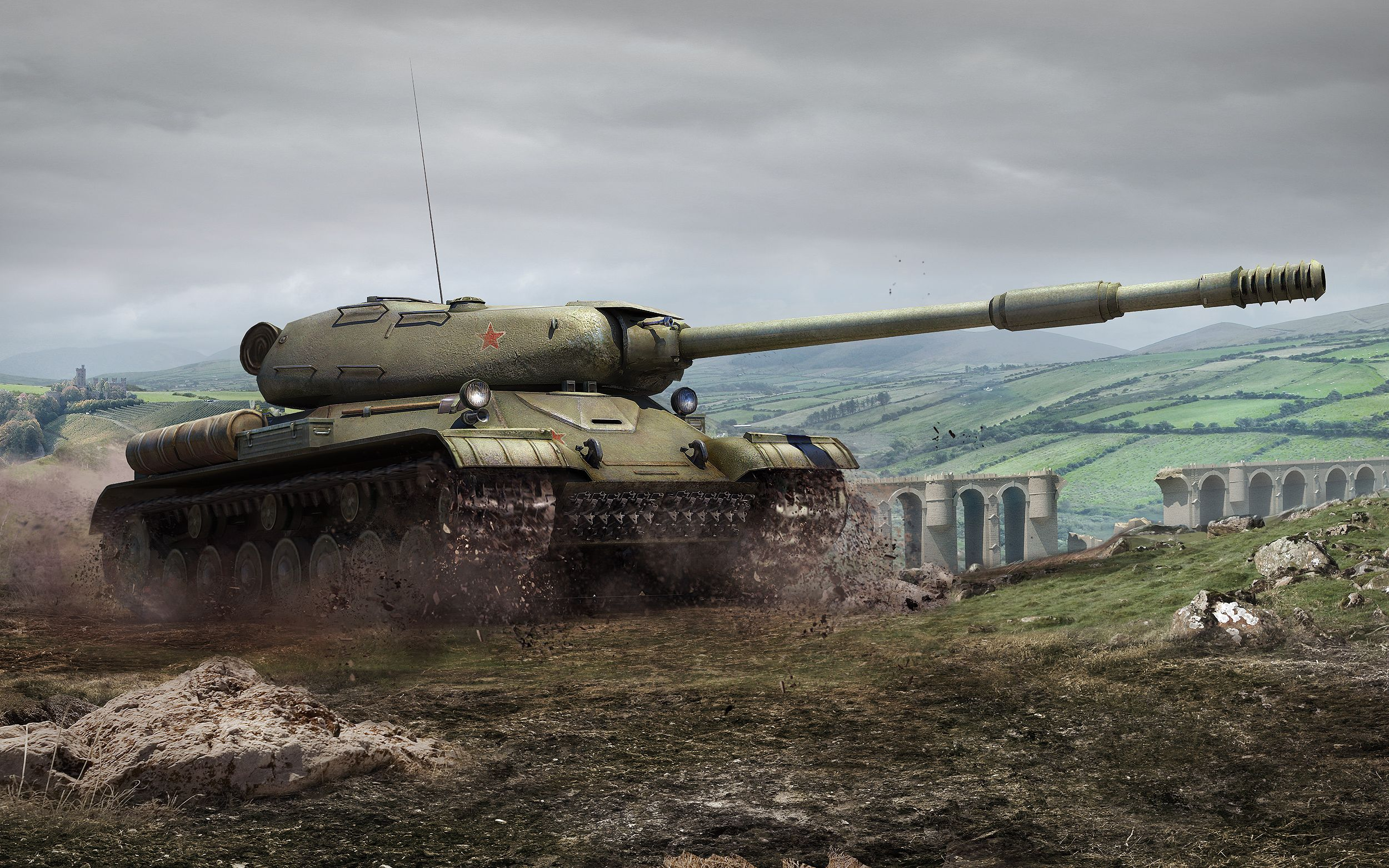рисунок Тяжелый танк ИС-4