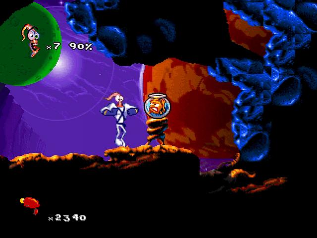 earthworm jim 2 psx screenshots: