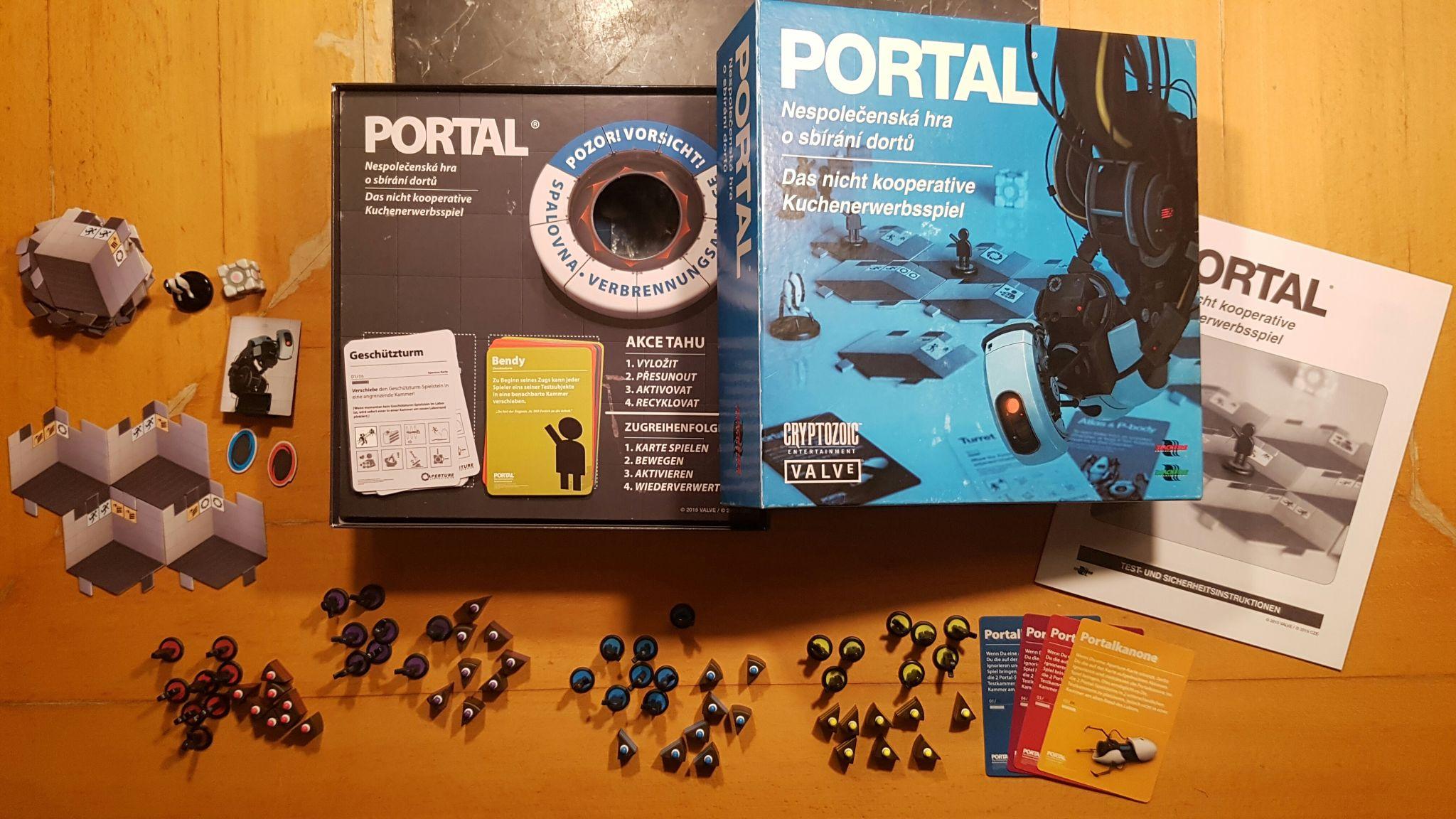 Portal - Das Brettspiel Test - Review: Spielprinzip, Spielfeld ...