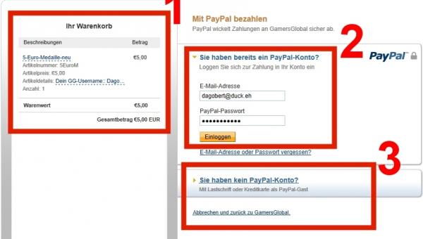 paypal anmelden ohne bankverbindung