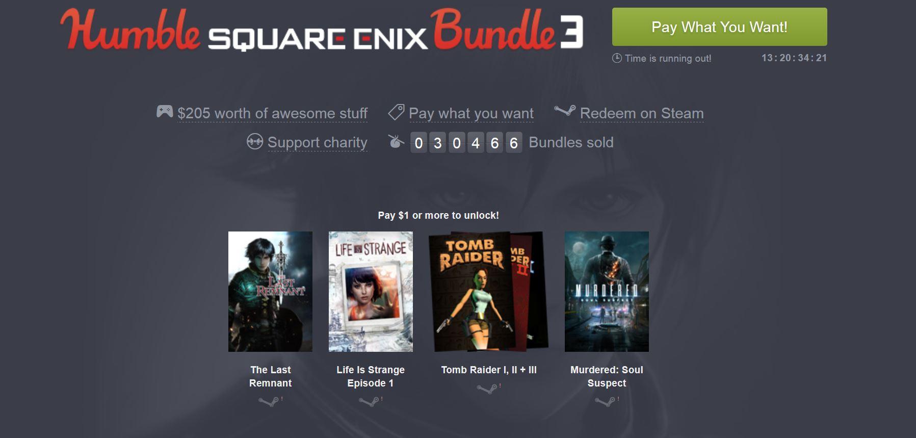 Humble Bundle Update: Humble Square Enix Bundle 3 // Update: Drei Weitere Tomb