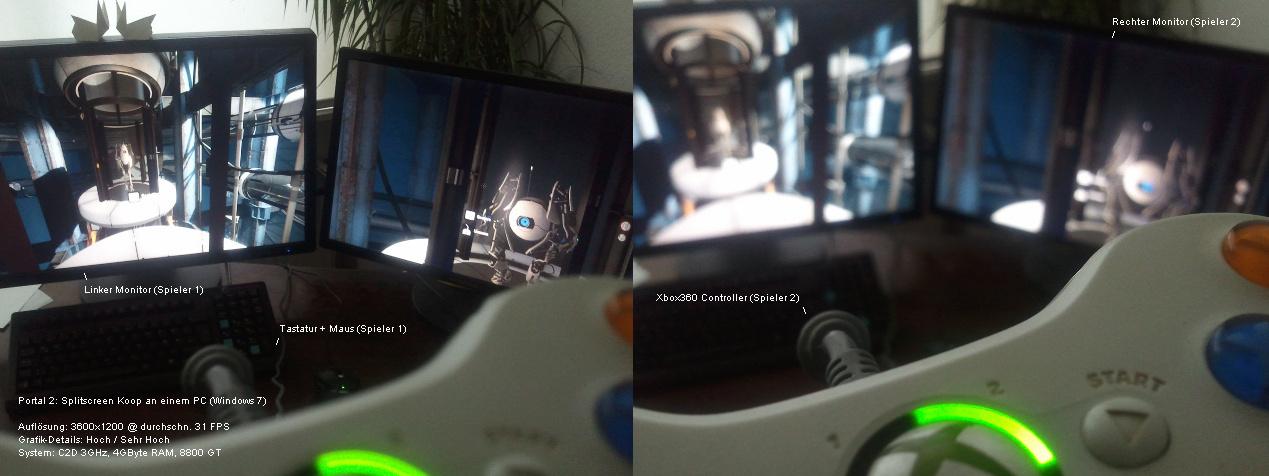 2 pc an einem monitor
