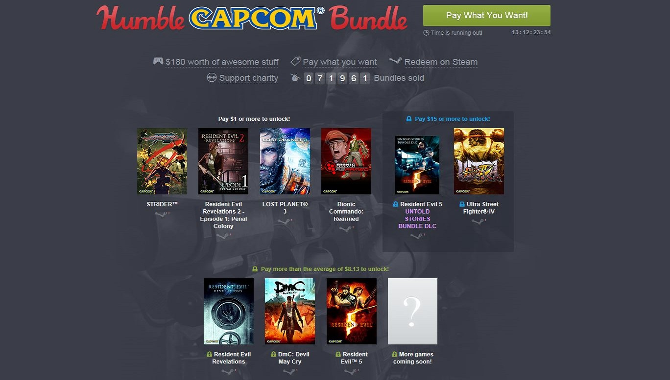 Humble Bundle Update: Humble Capcom Bundle Mit Resident Evil