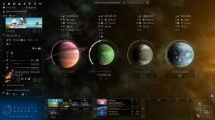 Übersicht der Planeten eines Systems.