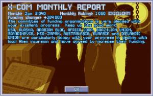 Enemy Unknown - Monatlicher Haushaltsbericht