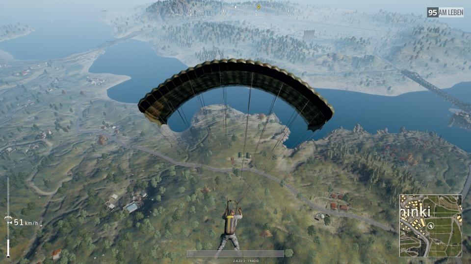 Sinkflug am Fallschirm