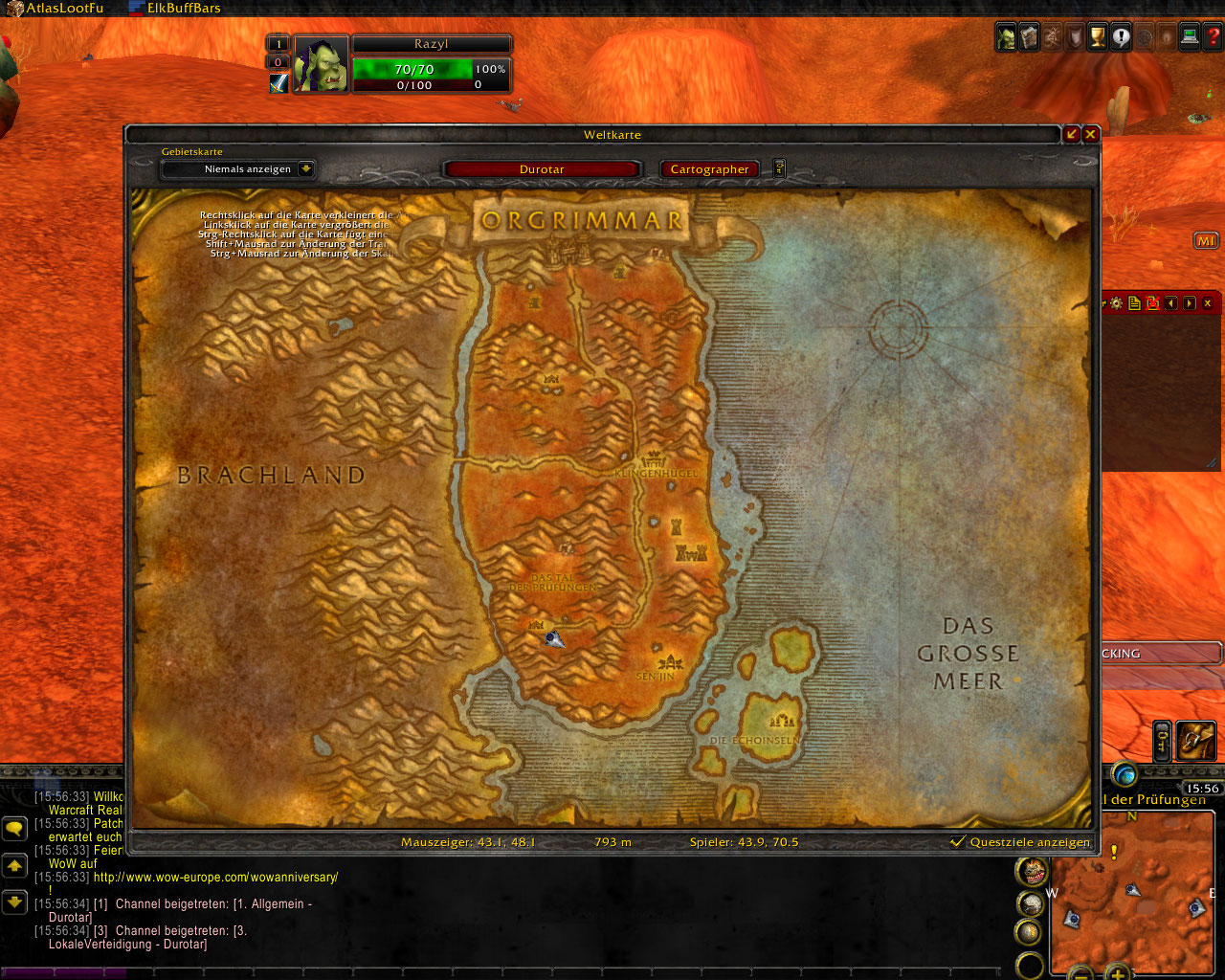 Wow Cartographer Addon
