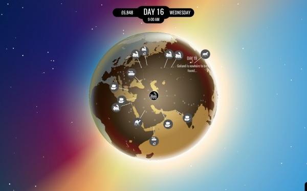 80 Days - Weltkugel