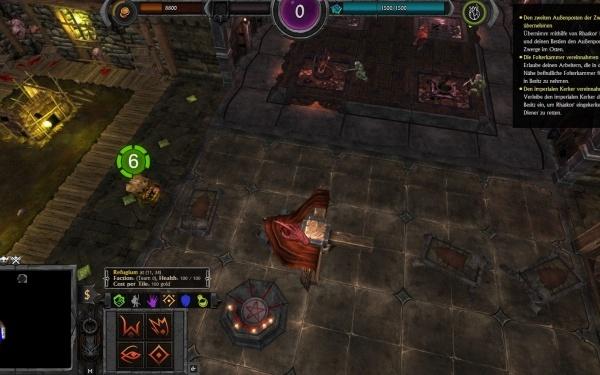 War for the Overworld - Screenshot mehrerer Räume