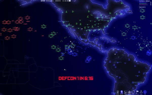 Die Grafik in Defcon ist simpel, schön und übersichtlich.