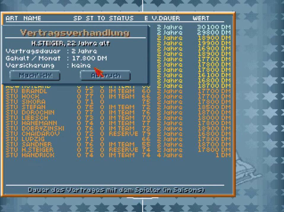 Eishockey Manager (Eigene Bilder, DOSbox PC Emulation) - Screenshot