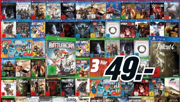 Media Markt und Amazon: Neue Multibuy-Aktionen mit 3 Spielen