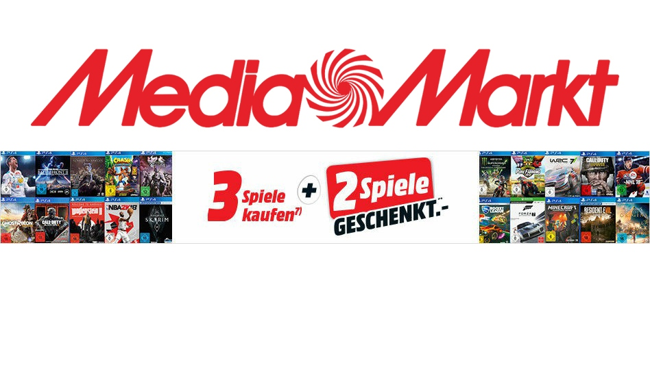 """4c3b442d83 Media-Markt-Aktion: """"5 Spiele wählen, nur 3 zahlen"""" - News ..."""
