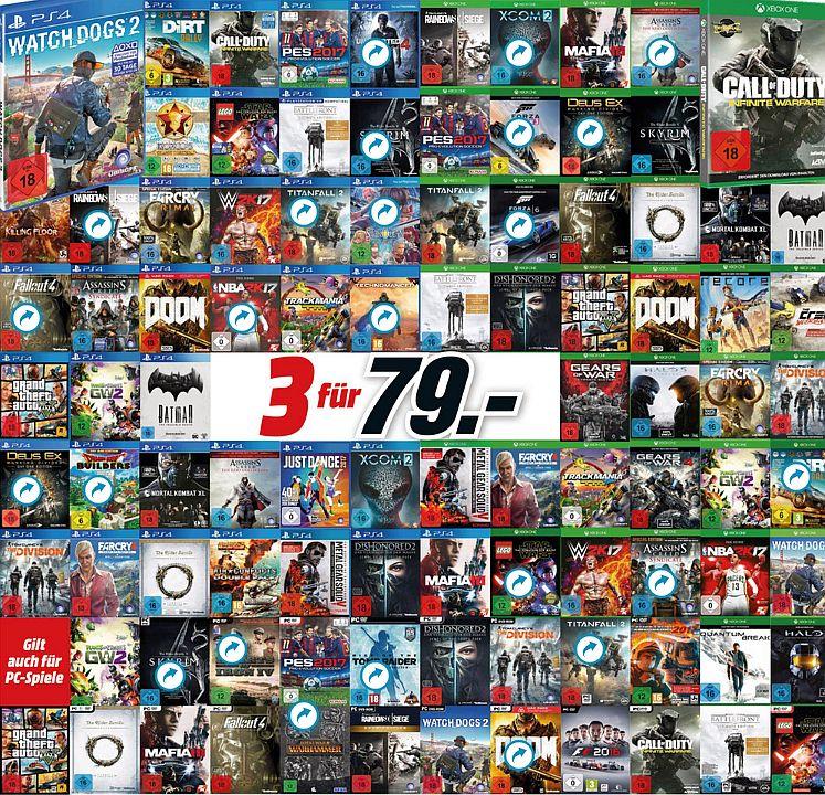 Media Markt Multibuy Aktion 3 Spiele Für 79 Euro Mit Dishonored 2