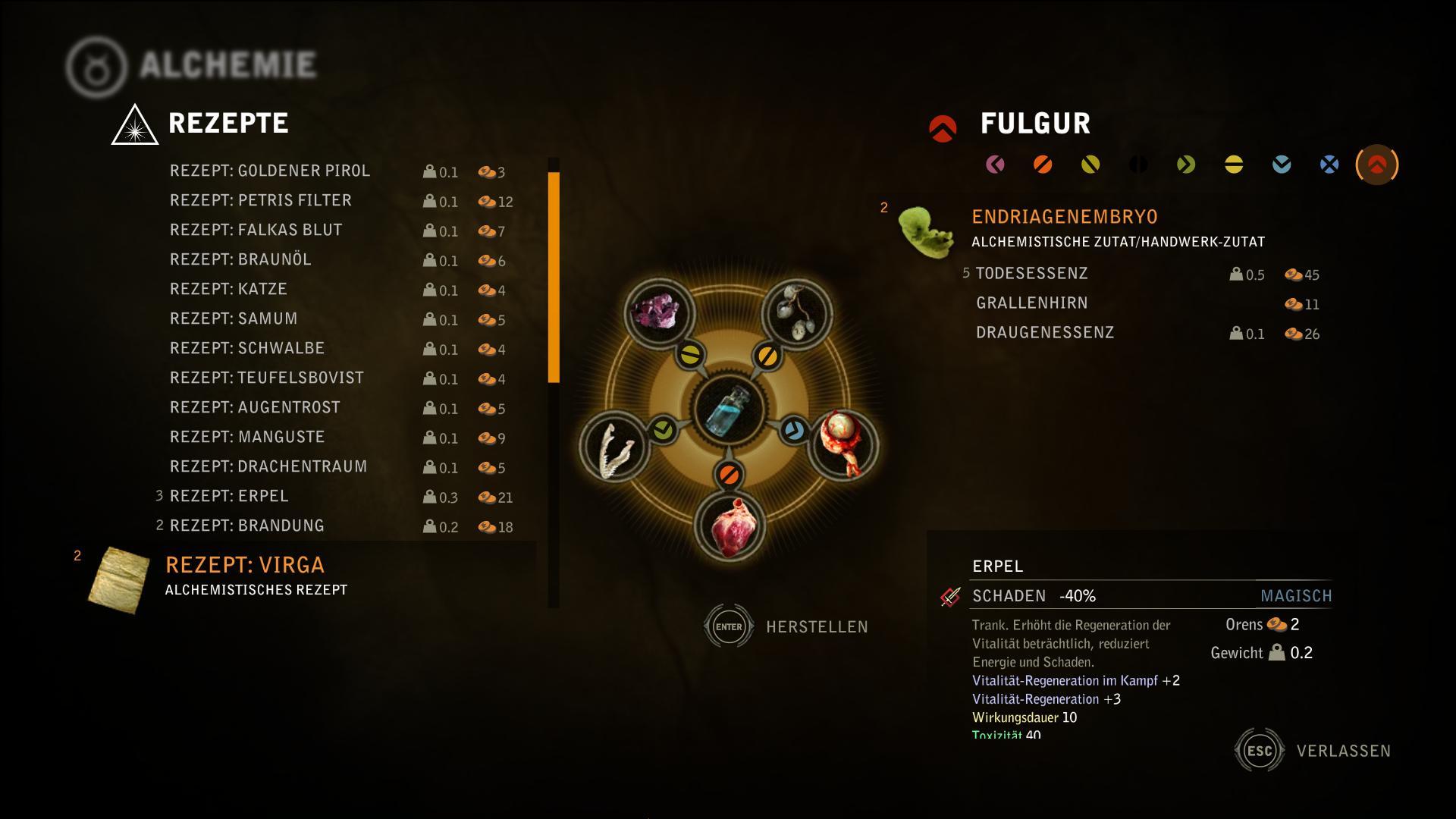 Witcher 2 Guide - Witcher 2 Guide - S.6: Die Alchemie: Tränke, Öle ...