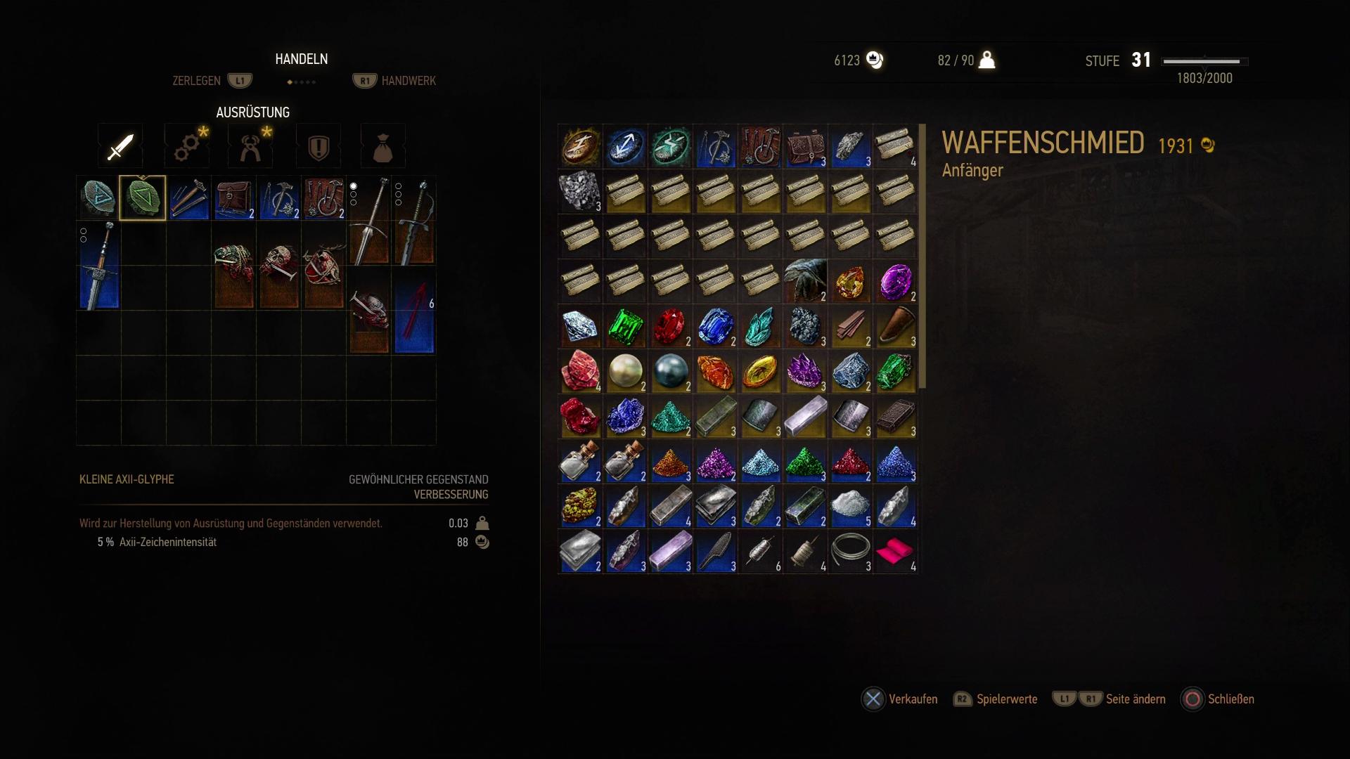 Witcher 3 Zerlegen Oder Verkaufen